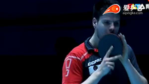 奥恰洛夫VS唐鹏 2014年终总决赛 男单半决赛视频(39:33开始)