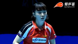 徐孝元VS于梦雨 2014年终总决赛 女单半决赛视频(52:00开始)