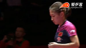 刘诗雯VS侯美玲 2015女子世界杯赛 女单1/4决赛视频