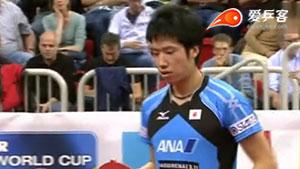 水谷隼VS庄智渊 2014男子世界杯赛 男单1/4决赛视频