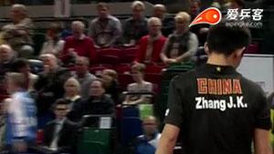 张继科VS萨姆索洛夫 2015德国公开赛 男单1/4决赛视频