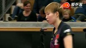 朱雨玲VS刘诗雯 瑞典公开赛 女单半决赛视频