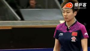 木子VS石川佳纯 瑞典公开赛 女单半决赛视频