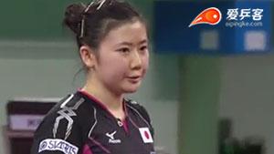 福原爱VS前田美优 2015韩国公开赛 女单1/4决赛视频