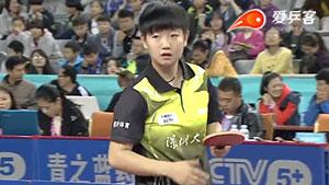 朱雨玲VS孙颖莎 2016中国乒超联赛 女团第四轮第二场视频